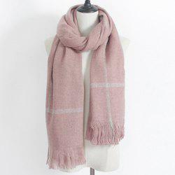 Plaid Print Fringe Winter Scarf -
