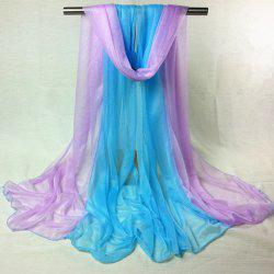 Outdoor Double Color Chiffon Long Scarf - BLUE VIOLET