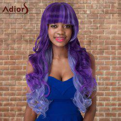 Adiors Long Neat Bang Colormix Shaggy Wavy Cosplay Synthetic Wig