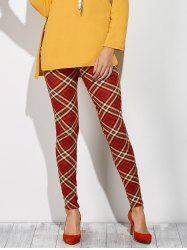 Plaid Leggings - CHECKED M