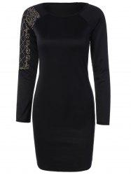 Beaded Slim Long Sleeve Dress -