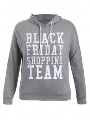 Black Friday Print Plus Size Hoodie -