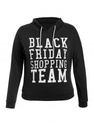 Black Friday Print Plus Size Hoodie