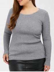 Slim Fit Ribbed Knitwear -