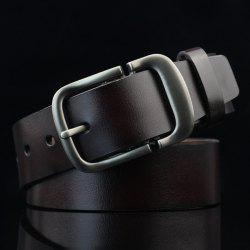 Cut Off Pin Buckle PU Wide Belt - ESPRESSO
