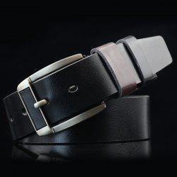 Brief Retro Pin Buckle PU ceinture - Noir