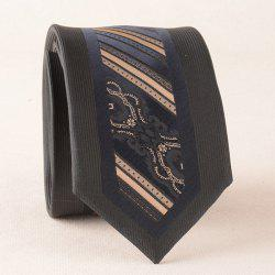 Bridegroom Stripe Texture Jacquard Neck Tie -
