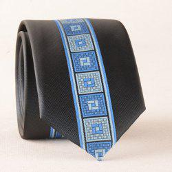 Casual Geometry Plaid Texture Neck Tie -