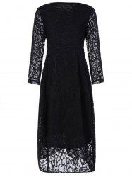 Plus Size Long Sleeve Formal Party Dress with Lace