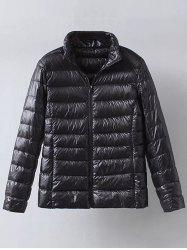 Zip Up Casual Down Jacket -