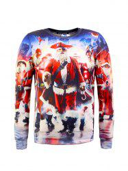 Santa Claus 3D Printed Christmas Sweatshirt - COLORMIX