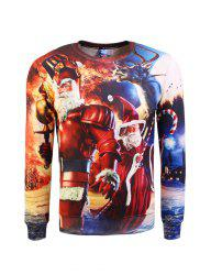 Crew Neck Graphic Christmas Sweatshirt