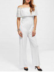 Off The Shoulder High Waist Jumpsuit -