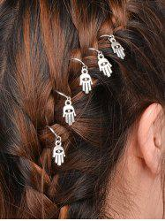 5 PCS Devil Eye Hand Hair Accessory - SILVER