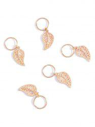 5 PCS Leaf Hair Accessory - GOLDEN