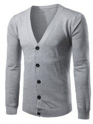 Slim Fit Button Up V Neck Cardigan -