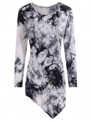 Tie Dyed Long Sleeve Asymmetric Tee
