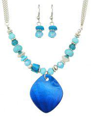 Turquoise Faux Crystal Jewelry Set