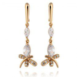 Stylish Zircon Butterfly Dangle Earrings -