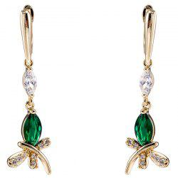 Zircon Butterfly Dangle Earrings