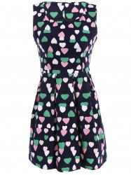 Vintage Colourful Heart Dress -