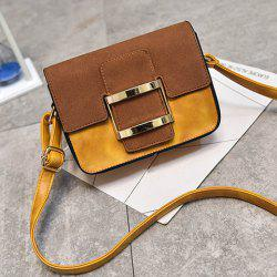 Metal Square Shape Covered Clousre Crossbody Bag