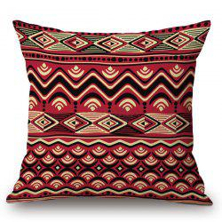 Christmas Corrugated Stripe Printed Pillow Case - COLORMIX