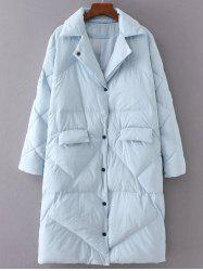 Quilted Button Up Coat -