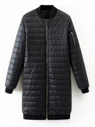 Quilted Zip Up Coat -