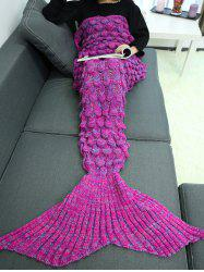 Knitting Fish Scales Design Mermaid Tail Style Blanket -