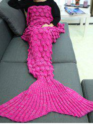 Knitting Fish Scales Design Mermaid Tail Style Blanket - TUTTI FRUTTI