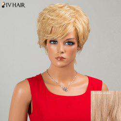 Siv Hair Fluffy Short Side Bang Layered Curly Human Hair Wig
