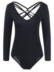 Crossback Bodycon Long Sleeve Bodysuit