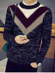 Flat Knitted Space Dye Crew Neck Sweater