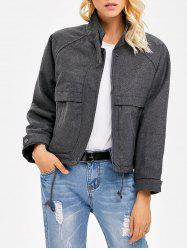 Stand Collar String  Jacket -