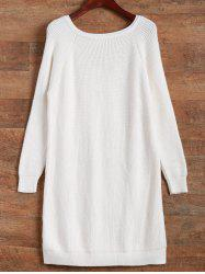 Longline High Low Ribbed Sweater