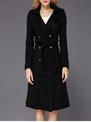 Wool A Line Long Peacoat