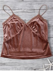 Velvet Cami Top - COFFEE 2XL