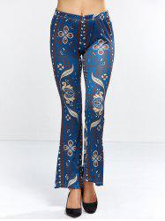 Retro Floral Bell Bottom Pants