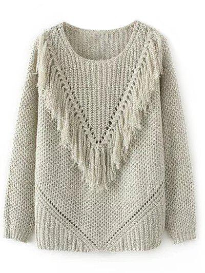 Shop Ribbed Tassel Chunky Sweater