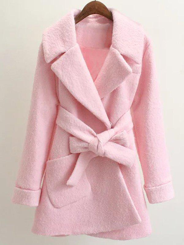 Affordable Belted Lapel Wool Coat