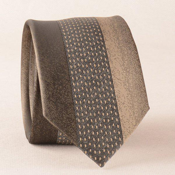 New Fomal Color Block Texture Skinny Neck Tie