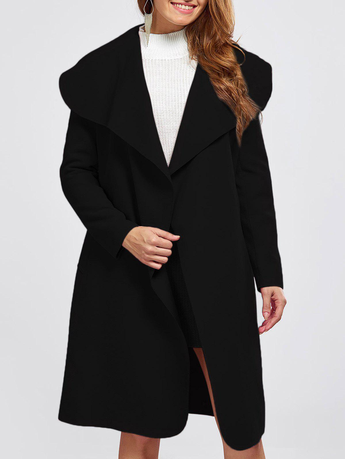 Sale Shawl Collar Wool Blend Belted Wrap Coat