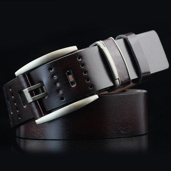 Discount Brief Hollow Out Small Hole Roller Buckle PU Belt