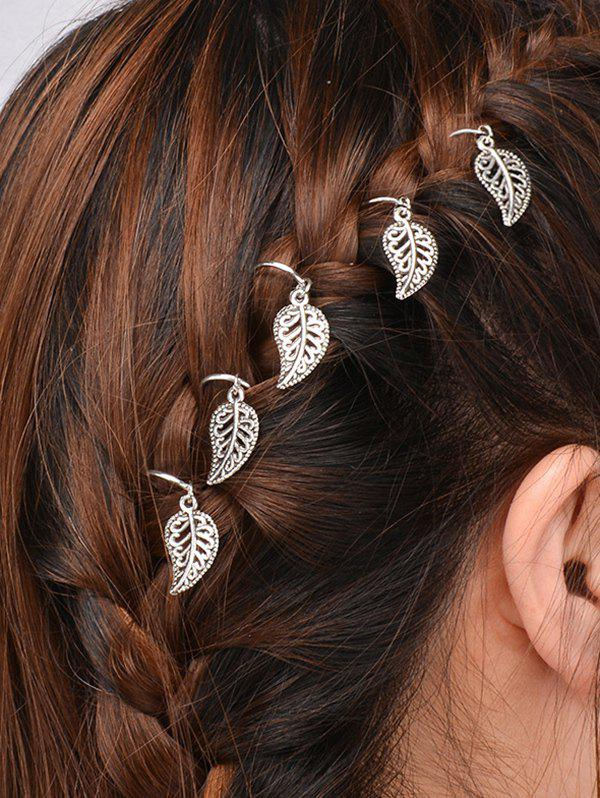 5 PCS Leaves Hair AccessoryACCESSORIES<br><br>Color: SILVER; Headwear Type: Hairpins; Group: Adult; Gender: For Women; Style: Active; Pattern Type: Plant; Weight: 0.0300kg; Package Contents: 5 * Hair Accessories;