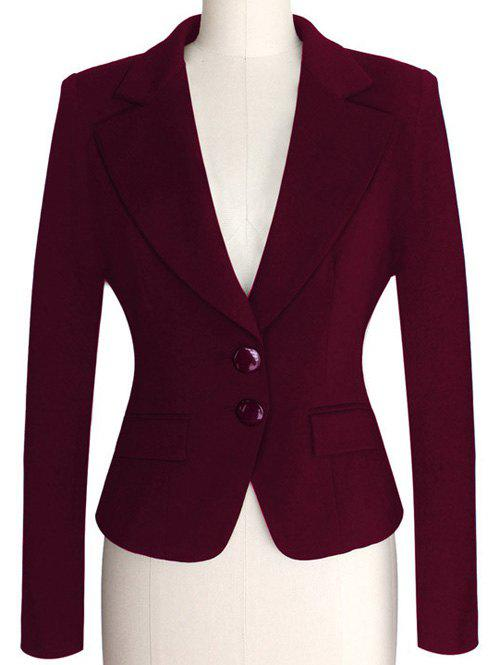 Best Two Buckle Slim Fit Short Peplum Blazer