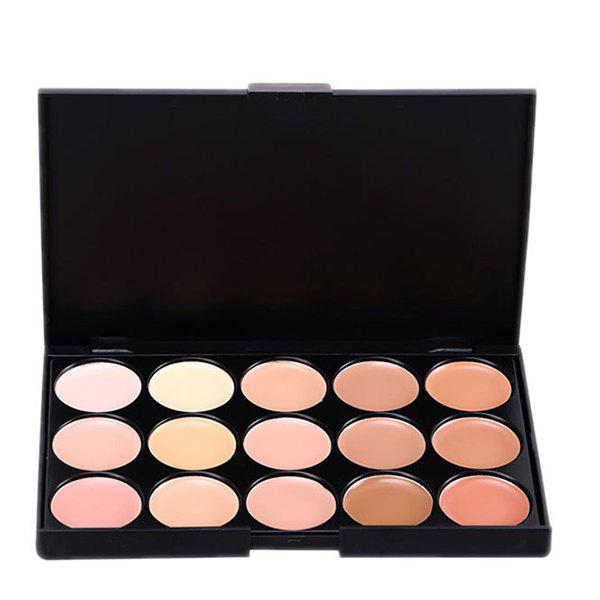 15 Colours Foundation Concealer Makeup PaletteBEAUTY<br><br>Color: #02; Category: Foundation; Type: Cream; Features: Limits Bacteria; Season: Fall,Spring,Summer,Winter; Weight: 0.120kg; Package Contents: 1 x Makeup Palette;