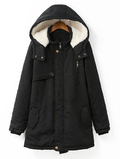 Best Plus Size Hooded Flocking Coat