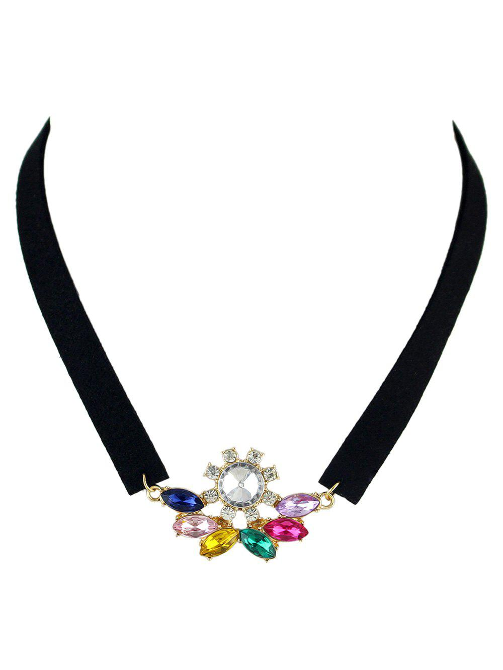 Best Faux Crystal Velvet Choker Necklace