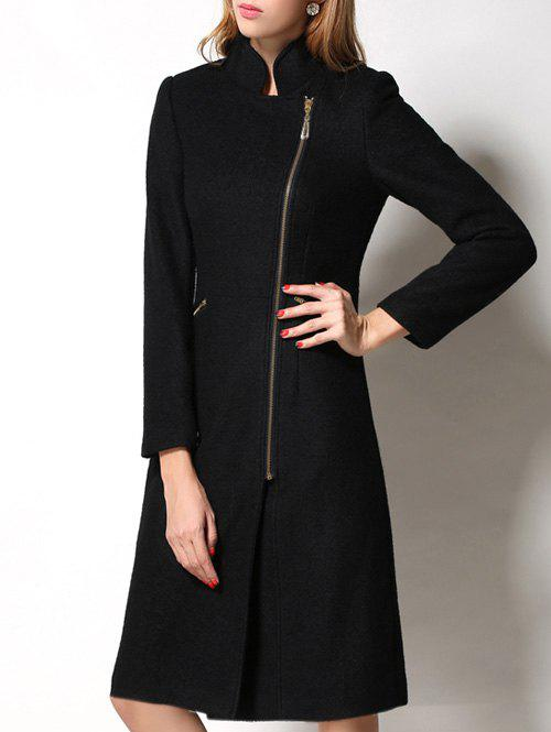 Hot Slimming Wool Long Coat